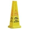 Wet Floor Cone 4 Side Eng/Spa Yellow