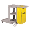 Continental Janitor Cart w/25 gallon waste bag