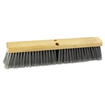 "Floor Brush Head 18"", Flagged Polypropylene Bristles"