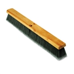 "Floor Brush Head 24"", Gray Flagged Polypropylene Bristles"