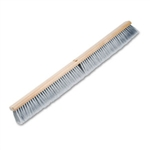 "Floor Brush Head 36"", Gray Flagged Polypropylene Bristles"