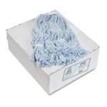 Floor Finish Mop Head, Narrow Medium Blue/White