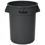 Continental Huskee 32 Gallon Round Receptacle, Gray