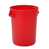 Continental Huskee 32 Gallon Round Receptacle, Red