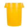 Continental Huskee 32 Gallon Round Receptacle, Yellow