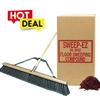 "COMBO Push Broom 24"" Grey Flagged ASM & Floor Sweep"