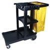 Rubbermaid Commercial Janitor Cart with 25 Gallon Bag
