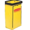 Rubbermaid 25 Gallon Janitor Cart Replacement Bag, Yellow