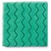 Rubbermaid Commercial Reusable Cleaning Cloths, Microfiber, 16 x 16, Green