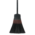 Maid Broom, Plastic Bristles Wood Handle 54""